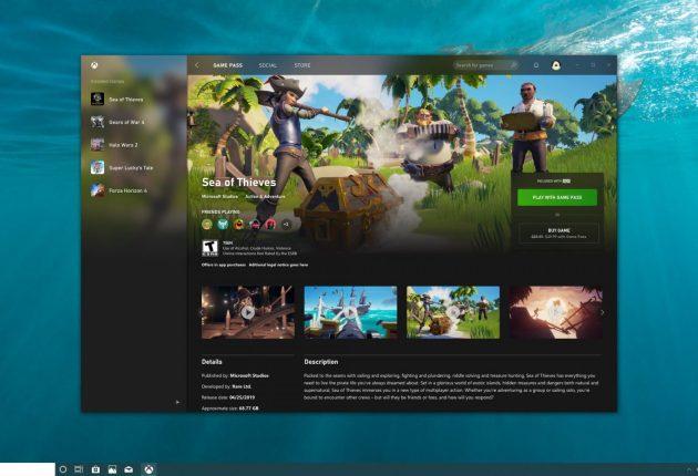 Captura de la nueva aplicación de Xbox 4