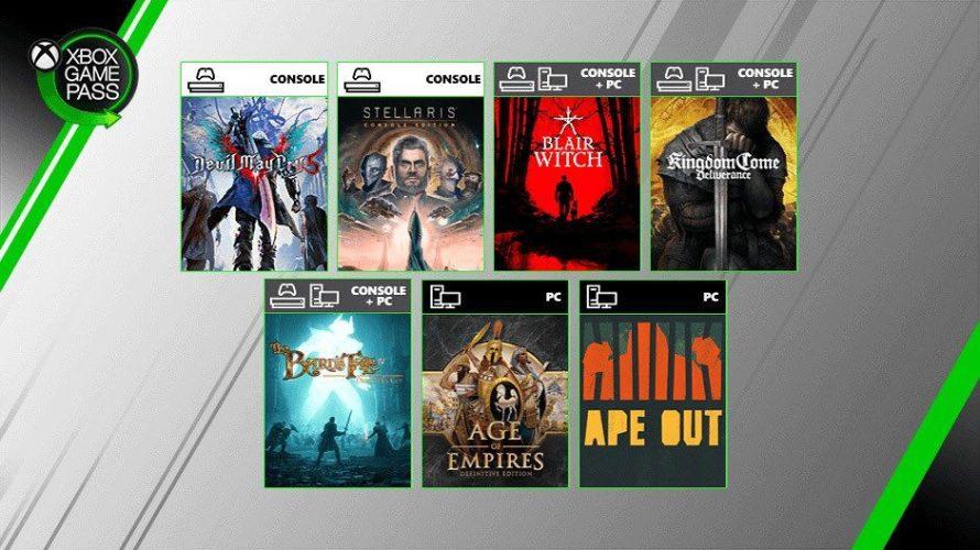 [GAMESCOM 2019] Anunciados los próximos juegos en llegar a Xbox Game Pass... ¡Devil May Cry V ya disponible!