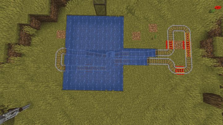 Circuito con redstone bajo el agua en Minecraft 1.17 con la Snapshot 20W45A
