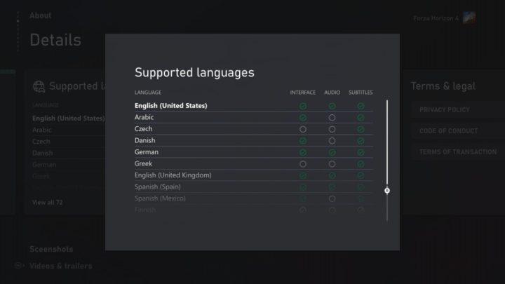 Xbox mejora la consulta de idiomas soportados en todos sus listados de juegos