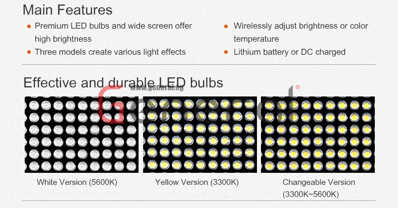 Godox LED500LR 3200-5500k Products LED500L LED500LR 03
