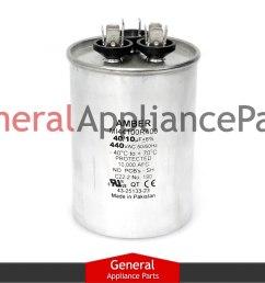 whirlpool crosley ac round capacitor 40 10 uf 440 vac 1186639 1186522 mrp163431 [ 1200 x 900 Pixel ]
