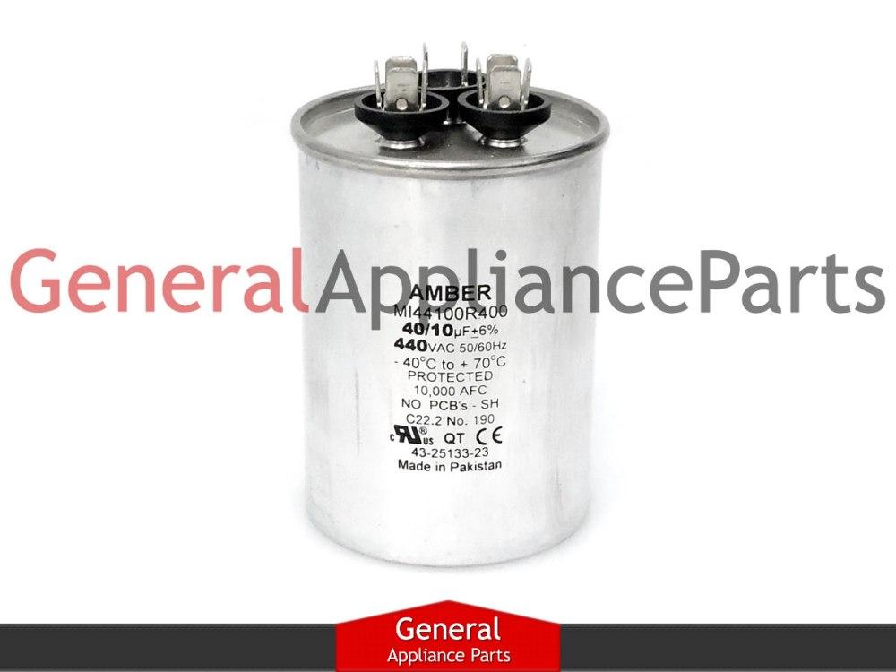 medium resolution of whirlpool crosley ac round capacitor 40 10 uf 440 vac 1186639 1186522 mrp163431