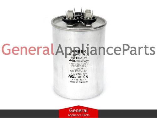 small resolution of whirlpool crosley ac round capacitor 40 10 uf 440 vac 1186639 1186522 mrp163431