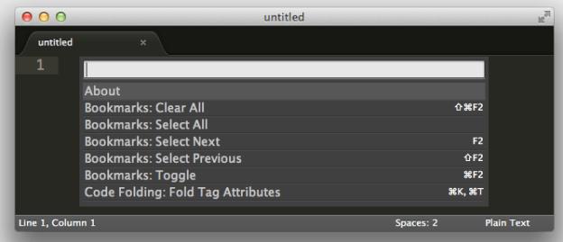 Sublime Text 3 Command Palette
