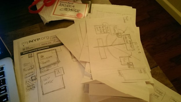 this how much wireframing for the idea#1 I had done (and we rejected anyway)