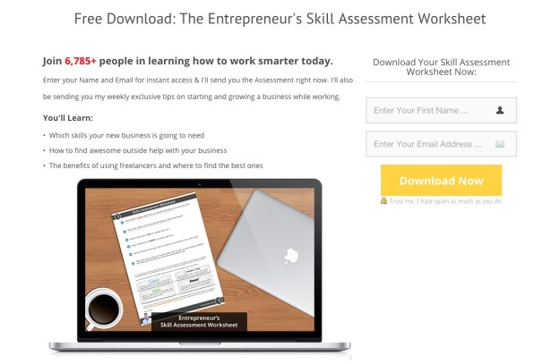 Ryan Robinson Skill Assessment Landing Page