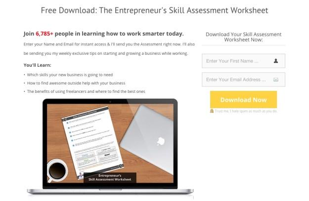 Ryan Robinson Skill Assessment Landing Page