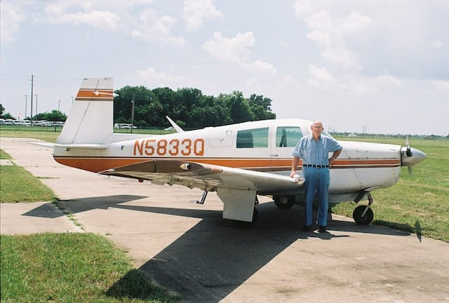 Dad with the Mooney in 2003