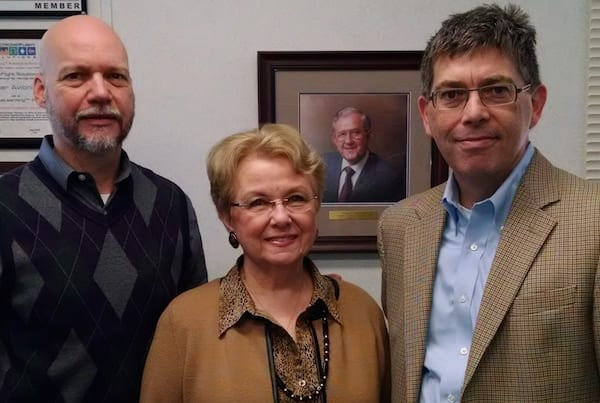 Carpenter Avionics Senior Leadership (left to right): John DenDekker, General Manager; Fran Carpenter, former CEO and President; and Mark Lee, new President and Owner following acquisition.