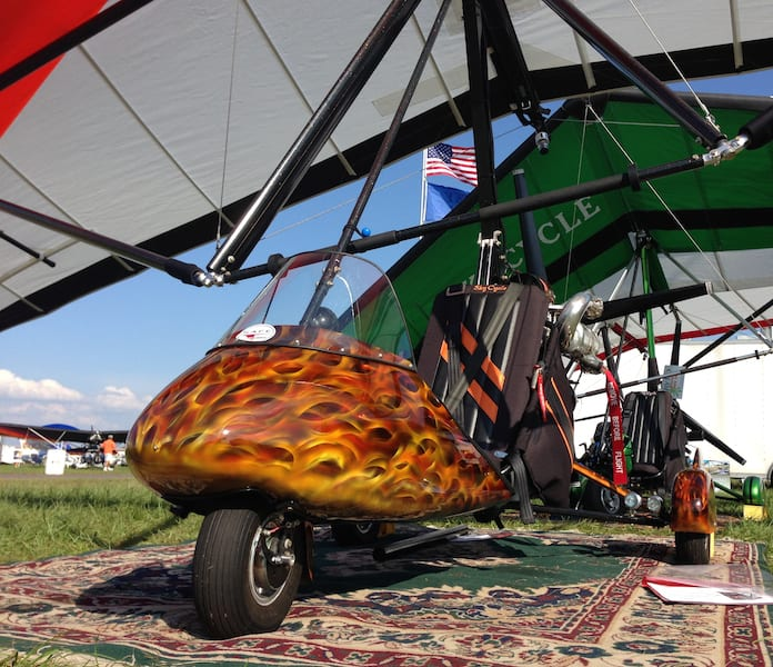 Fly Hard's SkyCycle used a custom 15-layer-deep airbrush paint job to attempt winning its ninth-in-a-row award at Sun 'n Fun.