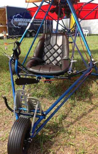 Quicksilver's single seat Sprint uses the twin cylinder opposed Hirth F23 that provides 50 horsepower to achieve wonderful performance in a Part 103 ultralight.