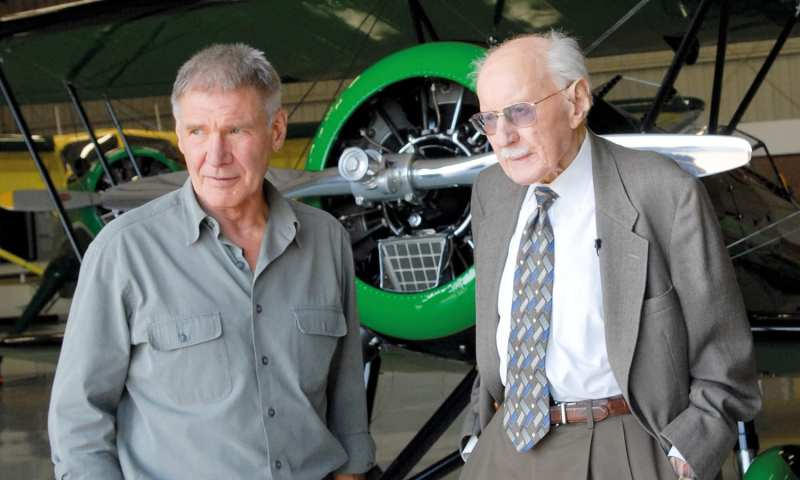 Harrison Ford with Bob Hoover