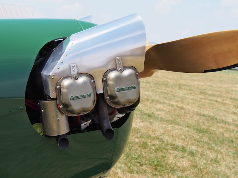 The co-builders fabricated the eyebrows-and cowling from 6061-aluminum. (Photo by SparkyBarned Sargent)