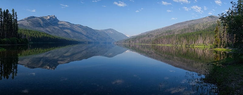 Morning on Big Salmon Lake in the Bob Marshall Wilderness, Montana. Photo by Troy Smith via Flickr.