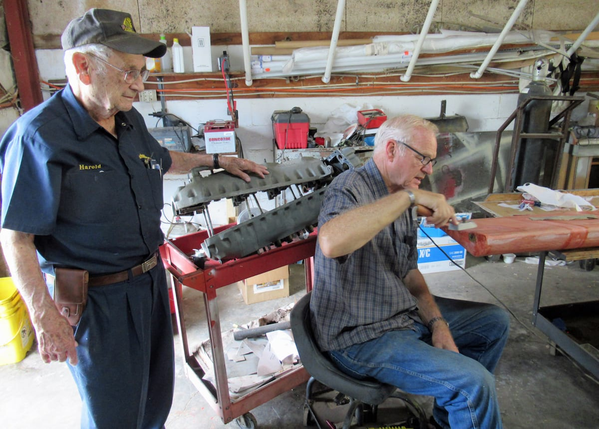 Still turning a wrench at 96