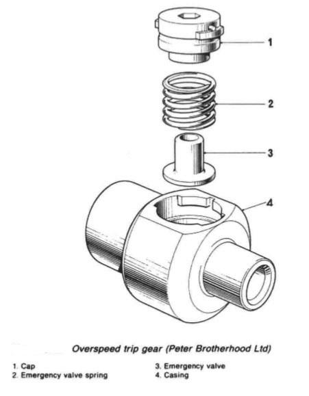 Marine auxiliary engine speed governing system