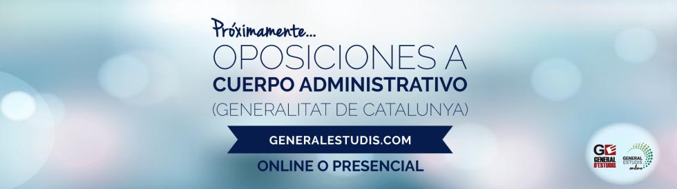 Oposiciones a Cuerpo Administrativo Gencat