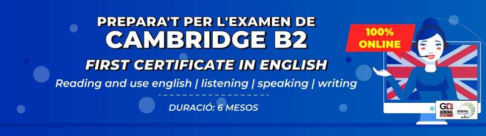 Preparació examen anglès B2 (FCE)