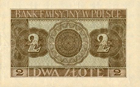 Generalne Gubrnatorstwo banknot 2 złote 1940 r.
