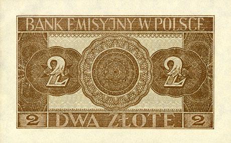Generalne Gubrnatorstwo banknot 2 złote 1941 r.
