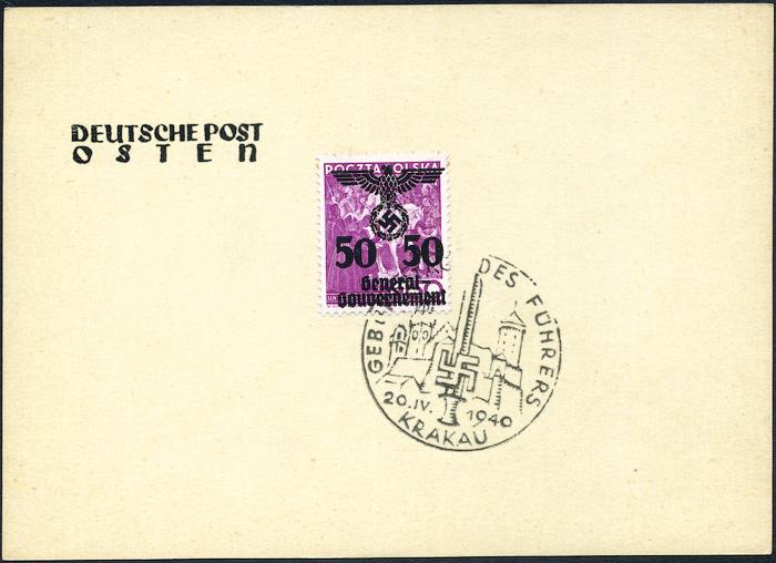 Kasownik nr 3 Geburstag des Führers Krakau 20. IV. 1940