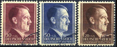 Znaczki GG Seria Fi. 89-91 1942 r. kasowane-0