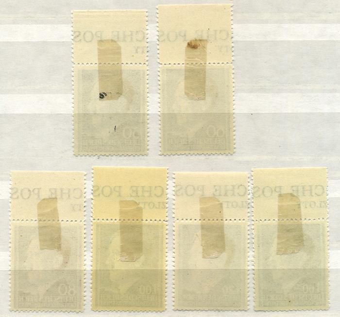 Seria Fi. 83-88 1942 r. z przywieszkami czyste ** MNH-913