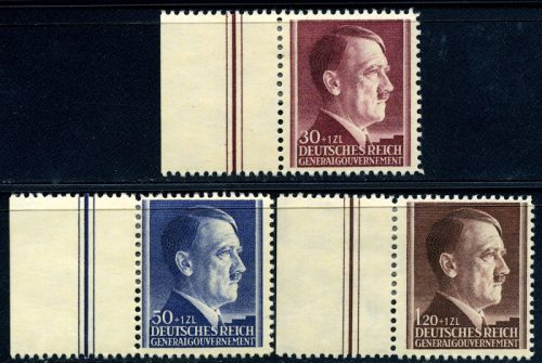 Znaczki GG Seria Fi. 89-91 1942 r. czyste * MH zmarginesem-0