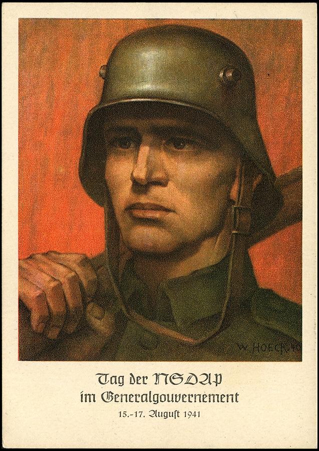 3rd REICH - Generalgouvernement POSTCARD Tag der NSDAP 1941