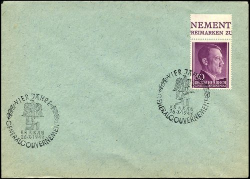 Generalgouvernement GERMAN OCCUPATION OF POLAND Special cancellation 1943-0