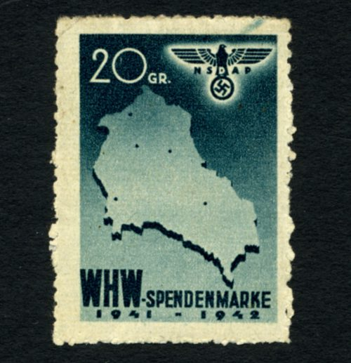 Generalgouvernement pomoc zimowa winter WHW SPENDENMARKE 1941-42