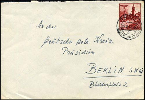 Generalgouvernement list TARNÓW - Deutsche Rote Kreuz Berlin 1942