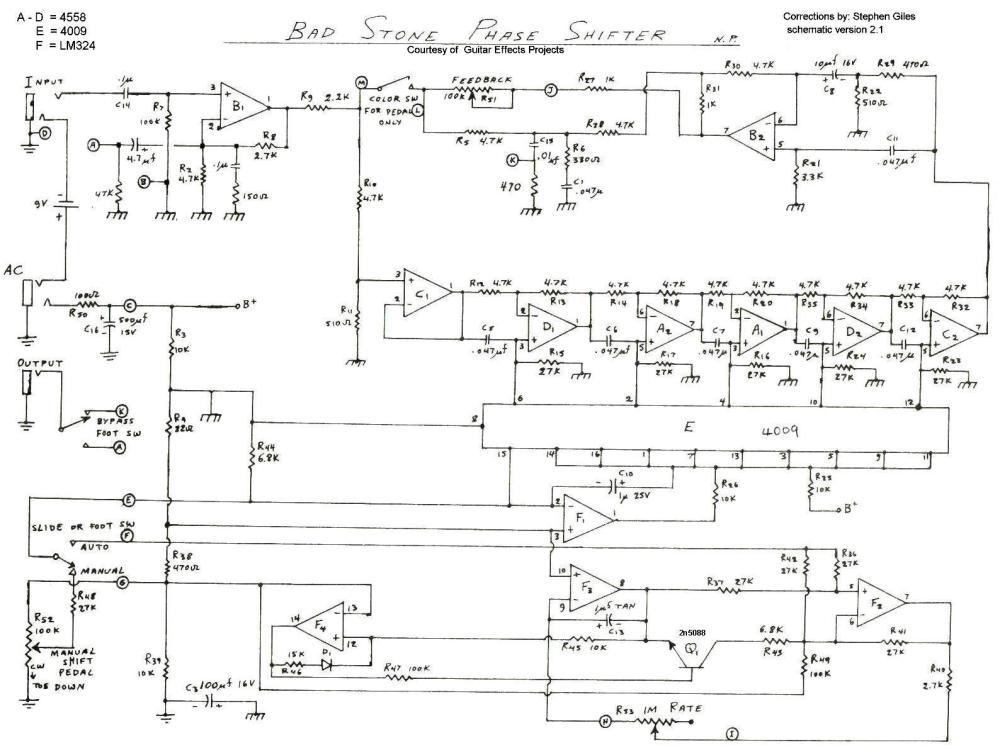 medium resolution of electro harmonix bad stone mark ii