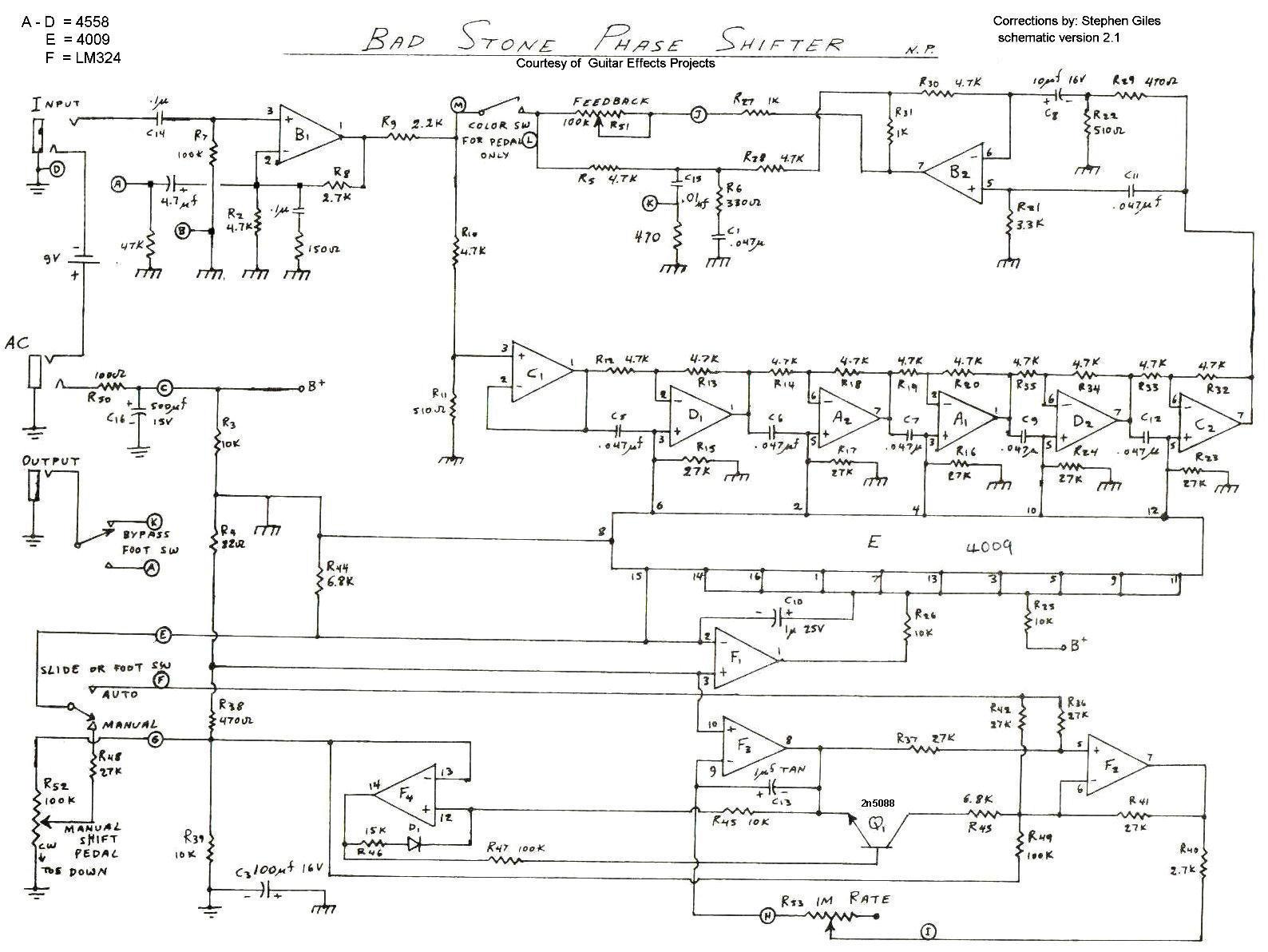 hight resolution of electro harmonix bad stone mark ii