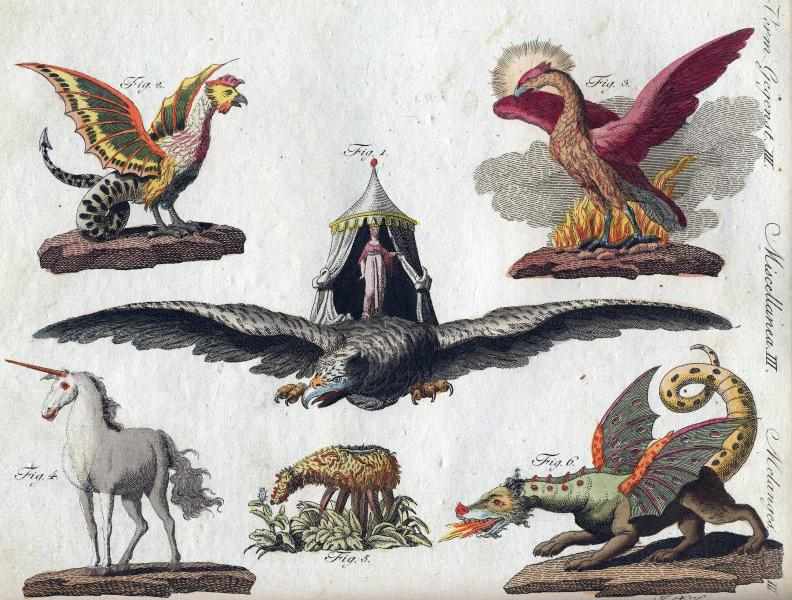 Mythological creatures, from Bertuch's Picture Book for Children