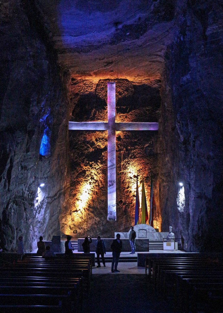 Altar of the Salt Cathedral of Zipaquirá