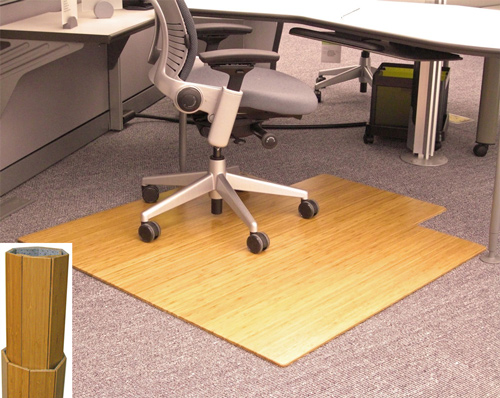 AMB24010 Anji Natural Bamboo Desk Chair Mat 24500  48 x