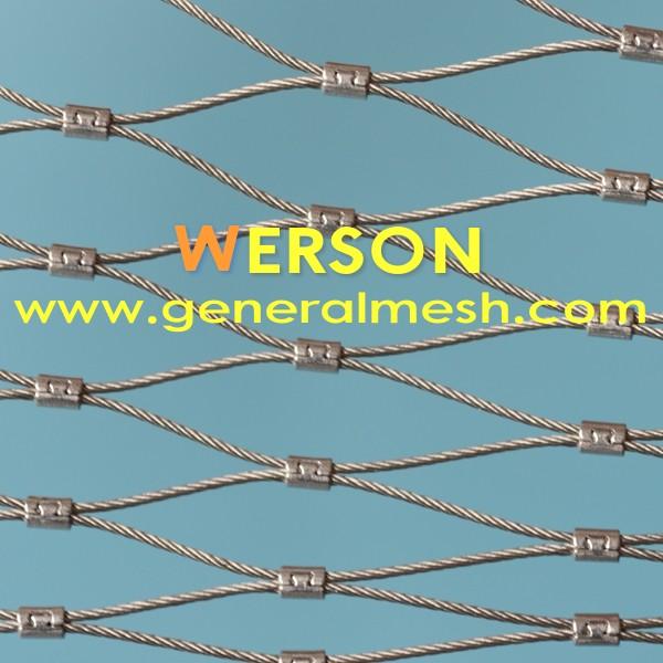 Flexible High Tensile Strength Balustrade Handrail Ferruled Wire Rope Mesh