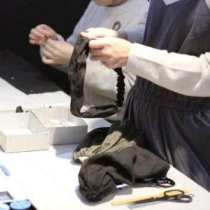 手縫いでできるリネンターバン ワークショップ