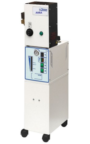 La photo représente un générateur de vapeur NEMO équipé d'un surchauffeur S2000 ( S2000 avec option électrovanne de sortie )