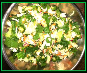spiced up chopped salad