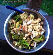 japanese inspired peanut dressing salad with roasted broccoli and chicken recipe