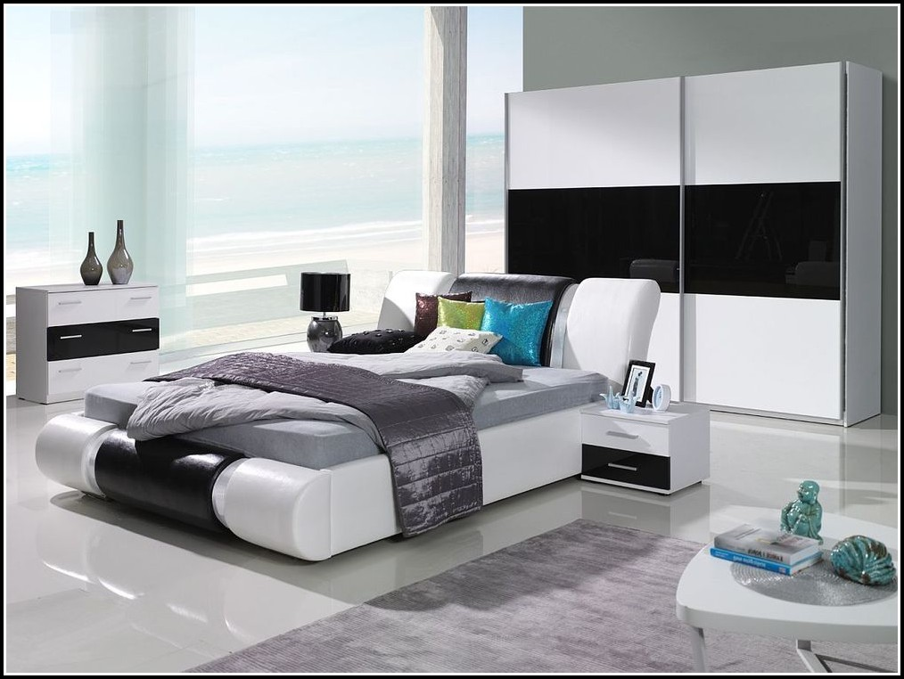 Komplett Schlafzimmer Guenstig Mit Matratze | Polsterbett ...