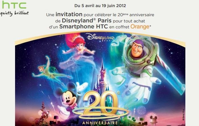 1 mobile htc orange achete 1 pass disneyland paris offert generation mobiles