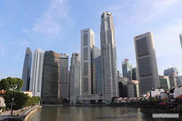Singapore Skyline from a bridge