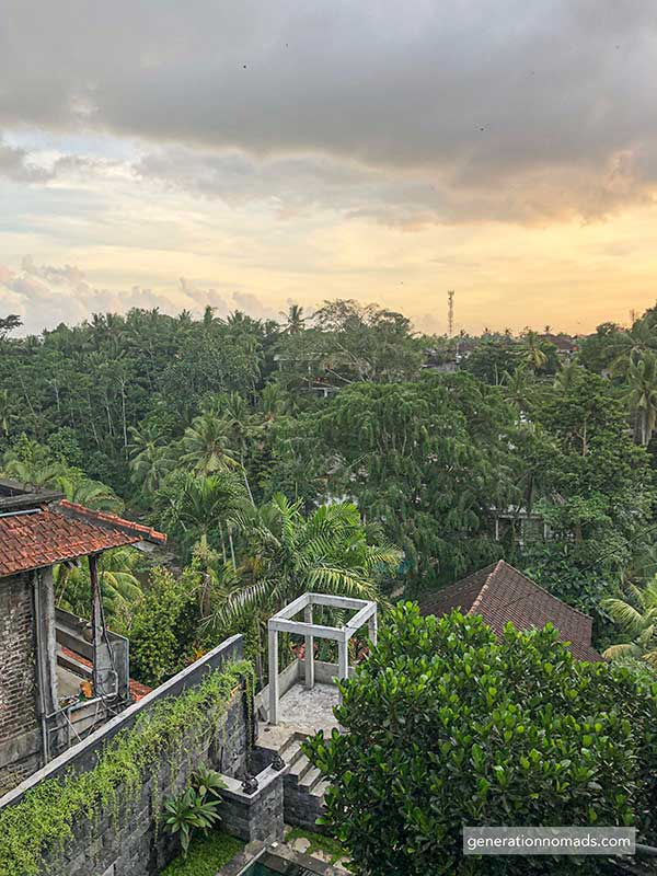 Sunset at Coworking Space Outpost Ubud