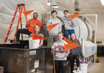 SCRAP Lab Students with 1746 Society pennants