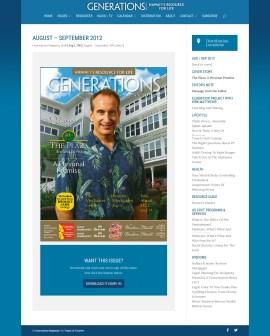 Website - Generations Magazine - August - September 2012