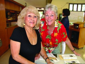WELCOME CREW: Helen Wagner (left) and Barbara Service are among the friendly faces at monthly Kokua Council meetings.